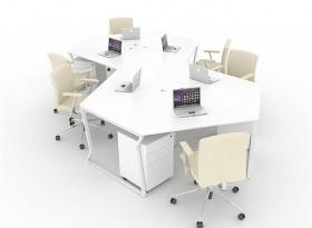六人位创意办公桌