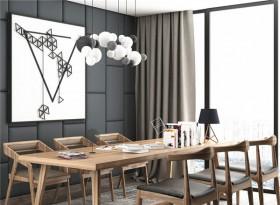 美式实木小型会议桌